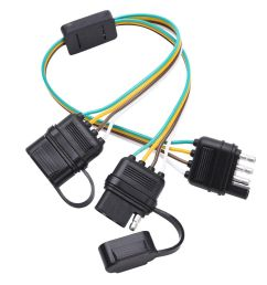 details about trailer splitter 4 pin y split wiring harness adapter connector led light strip [ 1000 x 1000 Pixel ]