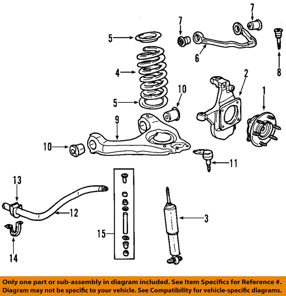medium resolution of details about gm oem front suspension shock absorber 20955500