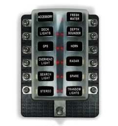 details about 12 volts marine applications 12 way standard led circuit blade fuse box kit [ 1000 x 1000 Pixel ]