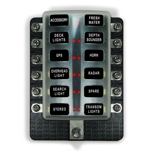 small resolution of details about 12 volts marine applications 12 way standard led circuit blade fuse box kit