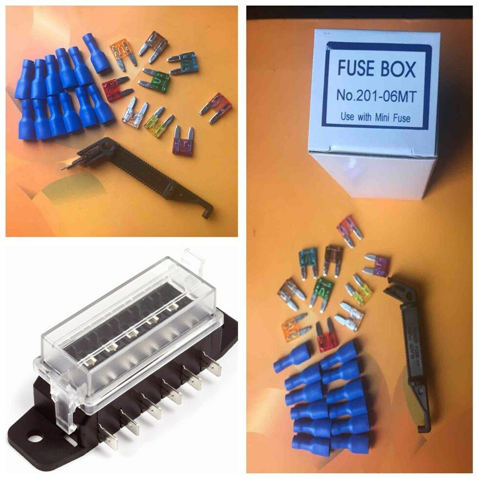 hight resolution of details about 1 set circuit blade fuse box block fuse holder set spade terminals fuse for car