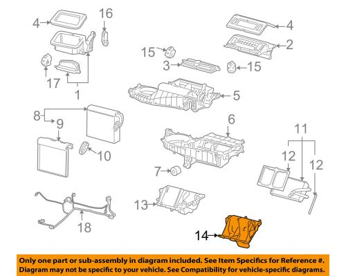 small resolution of details about gm oem a c ac evaporator core case 15938587
