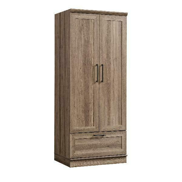 Wardrobe Closet Armoire Storage Bedroom Furniture Clothes Organizer Wood Cabinet 784338190830