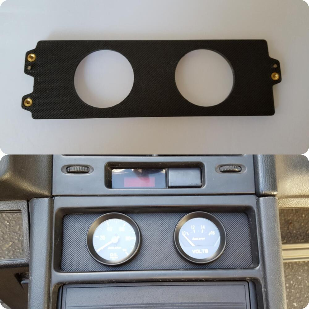 hight resolution of details about 88 91 honda crx climate control gauge plate 53mm 2 gauges pod mount 2 1 16 dash