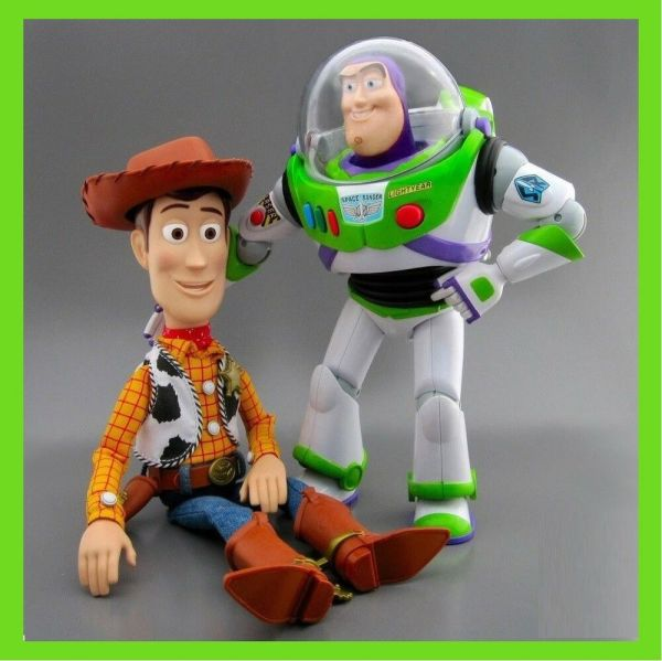 Brand Disney Toy Story Talking Woody Buzz Lightyear Action Figure Doll Loose