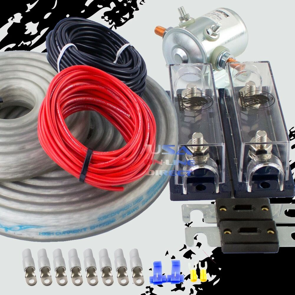 hight resolution of details about 300 amp heavy duty dual auxiliary battery isolator 2 awg copper kit w anl fuses