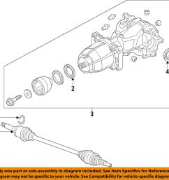 details about ford oem rear differential pinion seal cv6z4676a [ 1000 x 972 Pixel ]