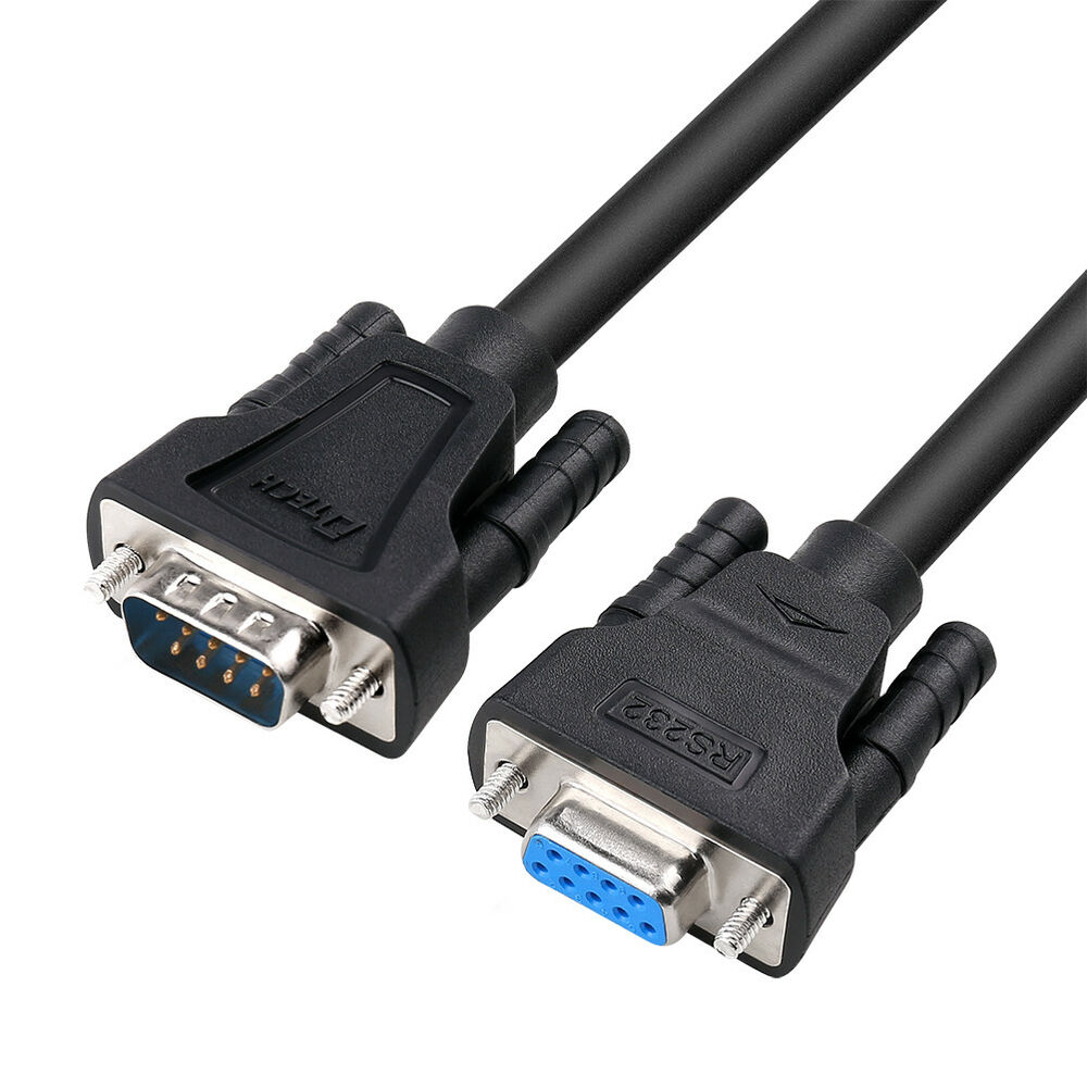 hight resolution of details about dtech 15ft serial male to female cable rs232 extension 9 pin straight through