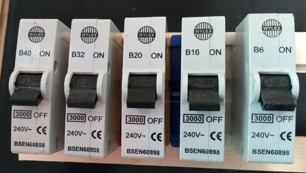 medium resolution of details about wylex abb plug in mcb 40a 32a 16a 10a 6a replaces rewirable fuses no bases