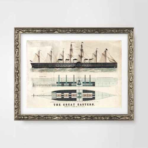 small resolution of details about antique ship boat diagram seaside nautical art print poster decor wall artwork