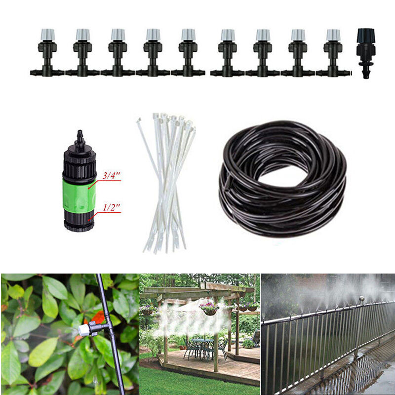 33ft Garden Patio Misting Cooling System Water Mister