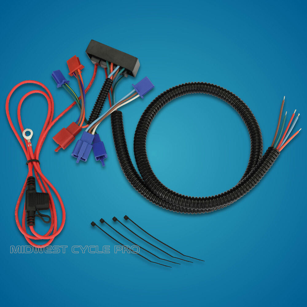 hight resolution of details about show chrome trailer wire harness fits honda gl1800 goldwing 2001 2010 52 694