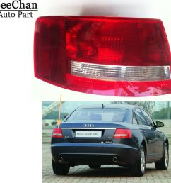 details about tail light housing left driver side no bulbs led for audi a6 s6 quattro 05 08 [ 900 x 900 Pixel ]