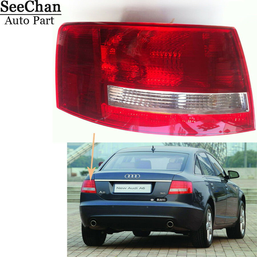 medium resolution of details about tail light housing left driver side no bulbs led for audi a6 s6 quattro 05 08