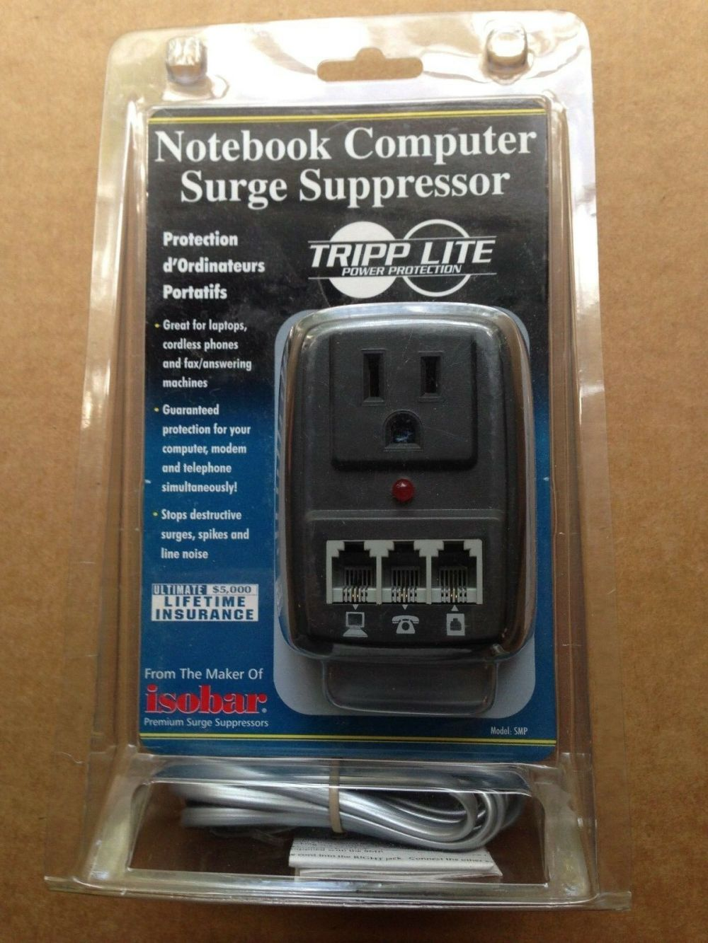 medium resolution of tools home improvement tripp lite 1 outlet no cord smp wallmount notebook surge suppressor with phone cord
