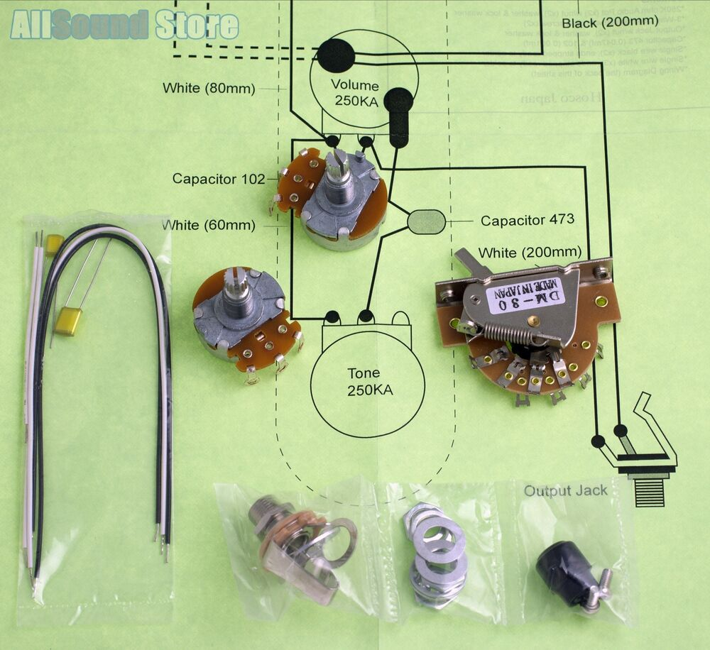 medium resolution of details about wiring kit for import fender telecaster tele complete w diagram made in japan