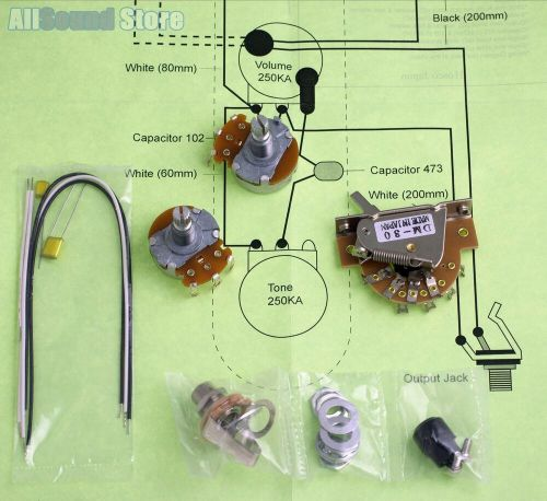 small resolution of details about wiring kit for import fender telecaster tele complete w diagram made in japan