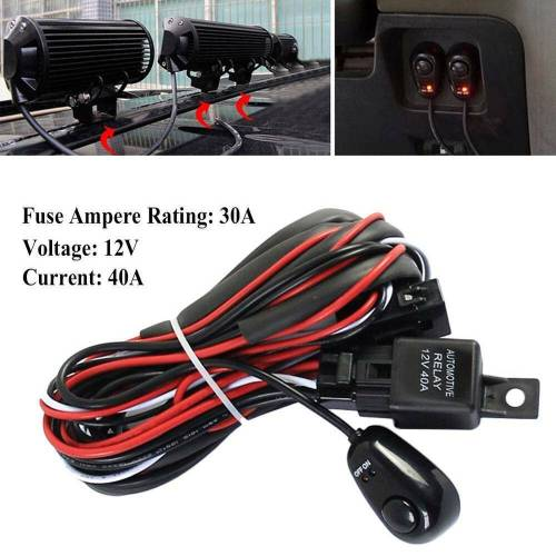 small resolution of details about 1 for 2 car driving light bar 12v fog light strip switch wiring harness kit pro