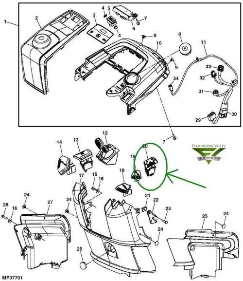 small resolution of details about john deere x300 x300r x304 x305r x310 x320 x324 pto mower switch am135131 new