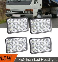 details about dot 4pcs headlamp for isuzu nqr npr npr hd 4x6 led headlight hi lo sealed beam [ 1000 x 1000 Pixel ]