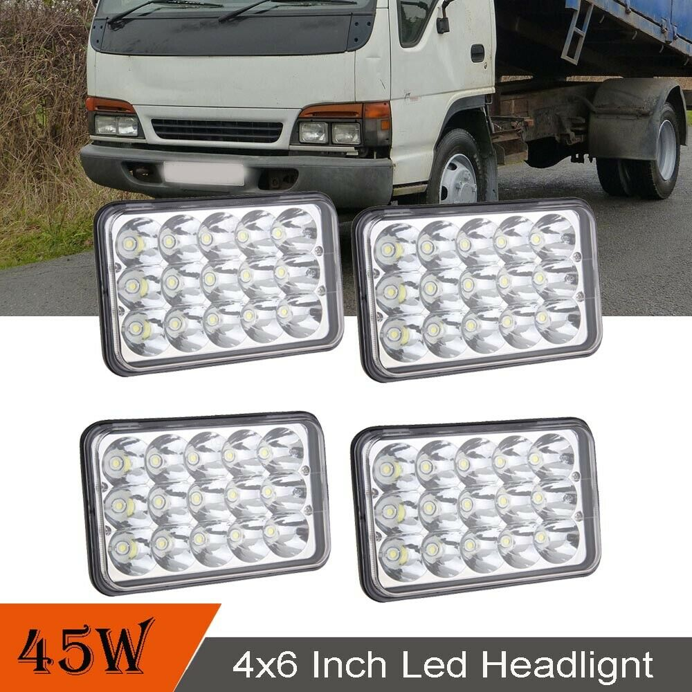 hight resolution of details about dot 4pcs headlamp for isuzu nqr npr npr hd 4x6 led headlight hi lo sealed beam