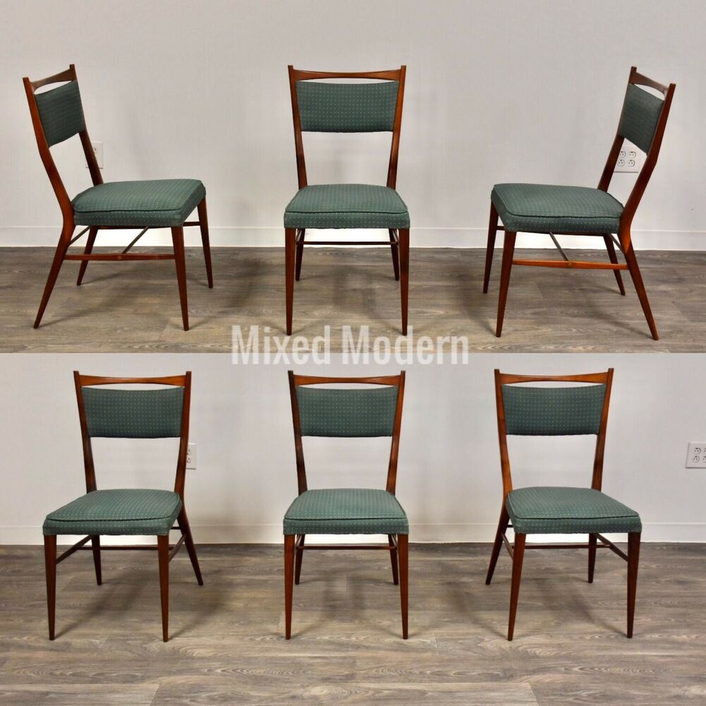 Paul Mccobb Chairs Paul Mccobb Mid Century Modern Walnut Dining Chairs Set Of 6 Ebay