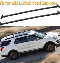 details about black car top luggage roof rack cross bar carrier for 2011 2015 ford explorer [ 1000 x 1000 Pixel ]
