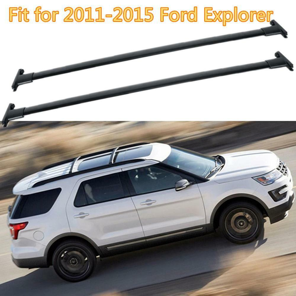 hight resolution of details about black car top luggage roof rack cross bar carrier for 2011 2015 ford explorer