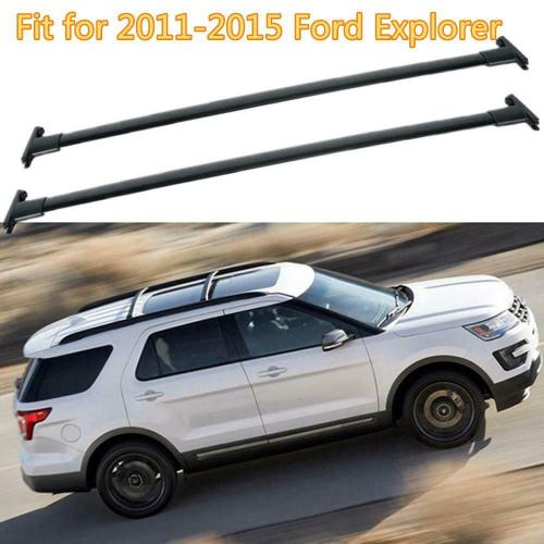 small resolution of details about black car top luggage roof rack cross bar carrier for 2011 2015 ford explorer