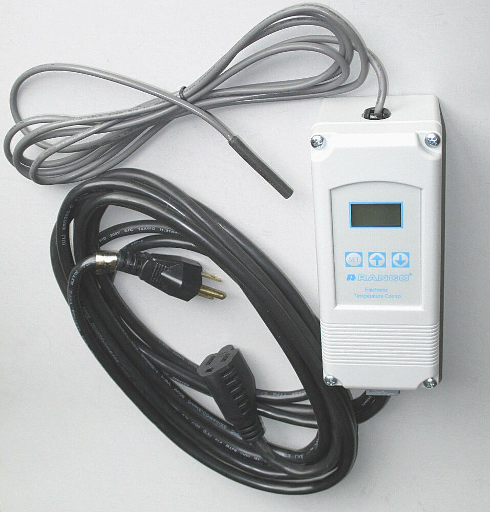medium resolution of kegerator pre wired thermostat temperature control beer keg cooler we also sell the ranco etc controller prewired with power cord and