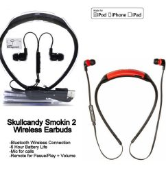 skullcandy smokin buds 2 wireless bluetooth earphones with mic red white new ebay [ 1000 x 1000 Pixel ]