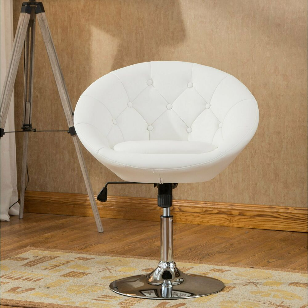 Adjustable Vanity Chair White Pedestal Swivel Chair Faux Leather Accent Height Adjustable Vanity Stool 141543533393 Ebay