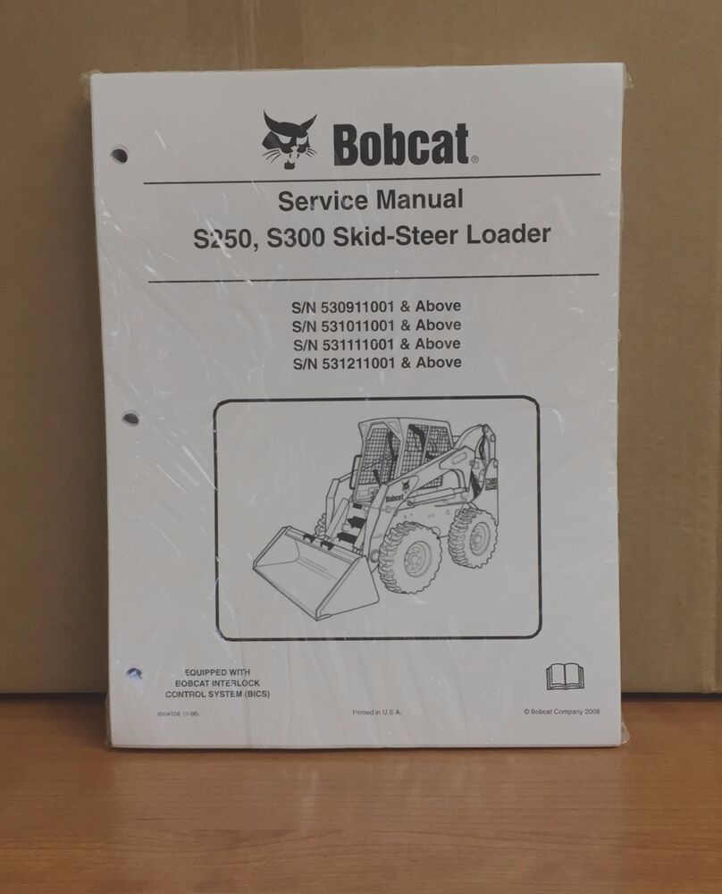 hight resolution of details about bobcat s250 s300 skid steer loader complete shop service manual repair 6904158