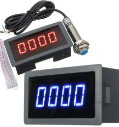 details about 4 digital led tachometer rpm speed meter hall proximity switch sensor npn kit [ 1000 x 1000 Pixel ]