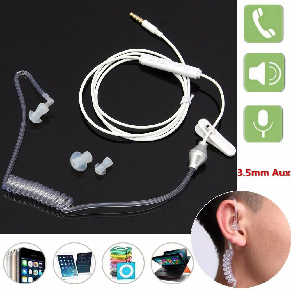 medium resolution of details about earbur acoustic air tube anti radiation spiral agent single earphone headphone