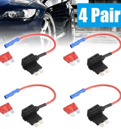 details about 4pcs car add a circuit fuse tap adapter standard ato atc auto blade fuse holder [ 1000 x 1000 Pixel ]