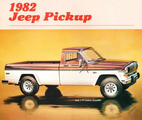 small resolution of 1982 jeep j10 j20 pickup truck brochure j10 j20 custom pioneer honcho laredo ebay