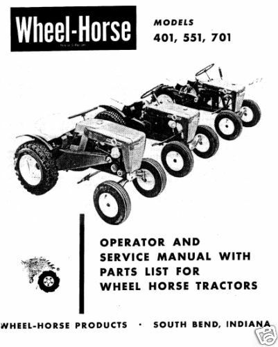 Wheel Horse Tractor Operation,Service & Parts Manual