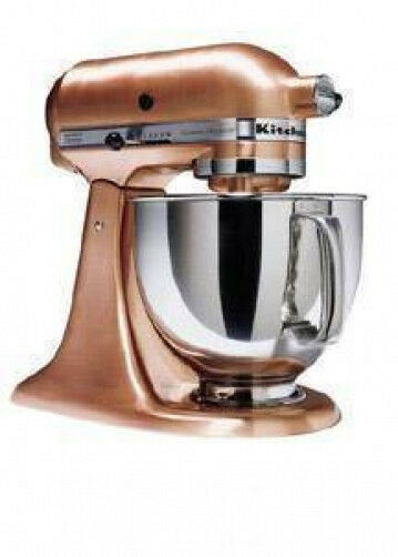 copper kitchen aid discount granite countertops kitchenaid ksm152pscp all brushed metal tilt ...