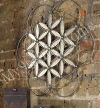 Extra Large CONTEMPORARY METAL Floral Wall Art Open Round ...