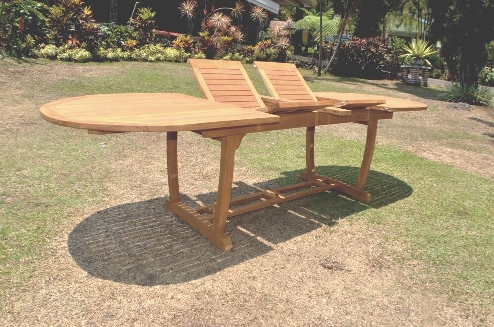 """Grade-A Teak Wood Mas 117"""" Double Extension Oval Dining"""