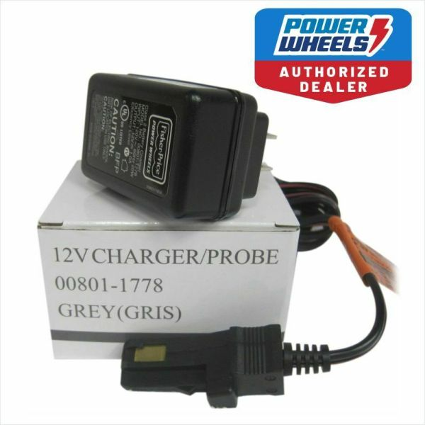 Power Wheels 00801-1778 12v Battery Charger Genuine Fisher 1 Yr Warranty