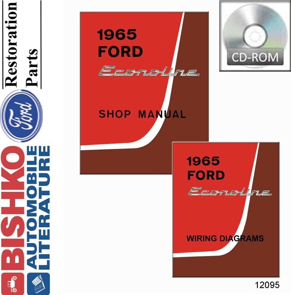 hight resolution of details about 1965 ford econoline shop service repair manual cd engine drivetrain electrical