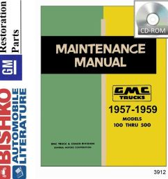 details about 1957 1958 1959 gmc truck shop service repair manual cd engine drivetrain wiring [ 985 x 1000 Pixel ]