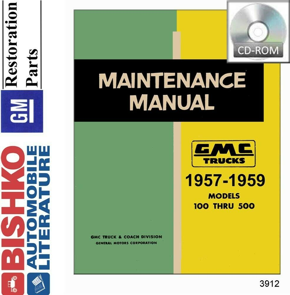 hight resolution of details about 1957 1958 1959 gmc truck shop service repair manual cd engine drivetrain wiring