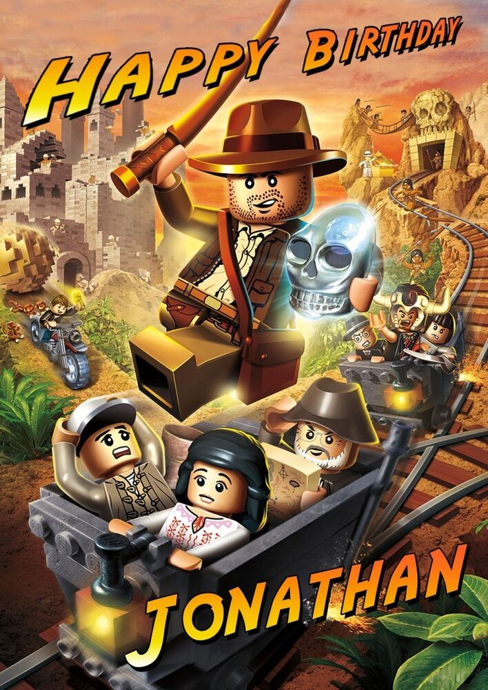 PERSONALISED LEGO INDIANA JONES BIRTHDAY CARD EBay