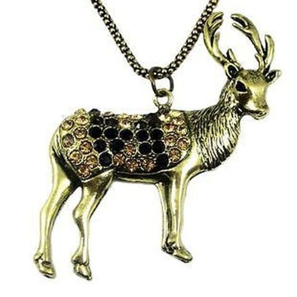Vintage Style Reindeer Charm Necklace Cool Gear
