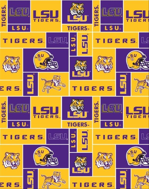 College LSU Louisiana State University Tigers Tiger Print
