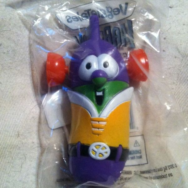 Veggie Tales Larry Boy Action Figure Christian Cartoon Toy Homeschool