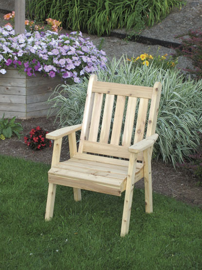 Traditional English Cedar Dining Lawn Chair Natural No